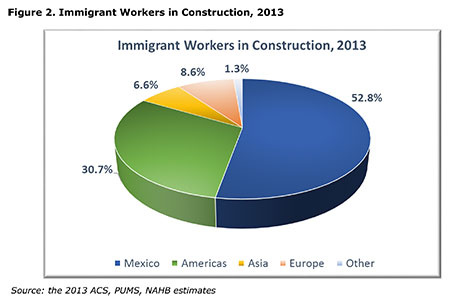 Figure 2. Immigrant Workers in Construction, 2013