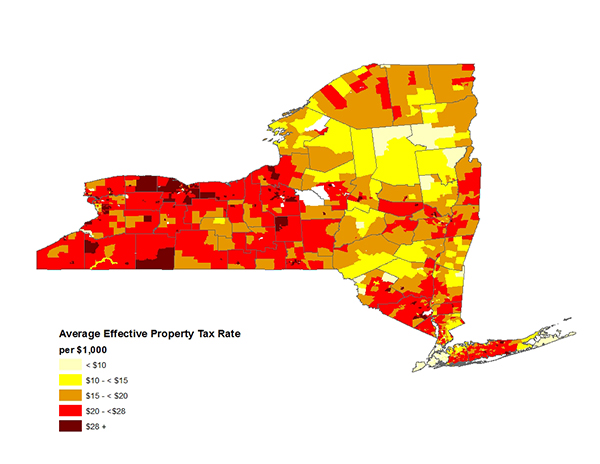 Figure 4. Average Effective Property Tax Rates in New York, 2010-2014