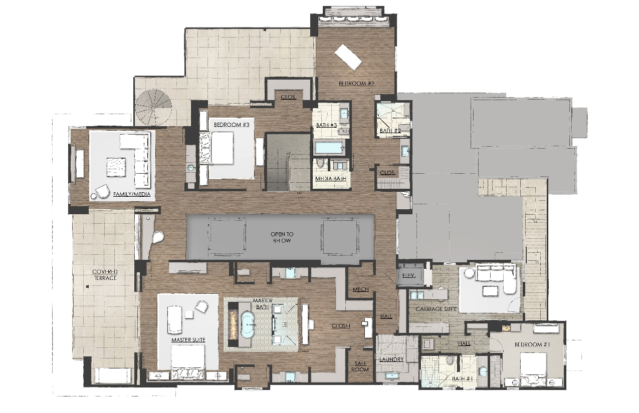Nahb 2014 floor plans for New american house floor plans